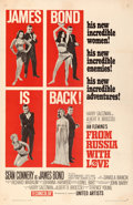 """Movie Posters:James Bond, From Russia with Love (United Artists, 1964). Very Fine- on Linen. One Sheet (27"""" X 41.5"""") Style B.. ..."""
