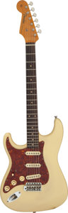 Musical Instruments:Electric Guitars, 1960 Fender Stratocaster Left-Handed Olympic White Solid Body Electric Guitar, Serial #40538.. ...