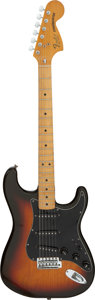 Musical Instruments:Electric Guitars, Circa 1981 Fender Stratocaster Sunburst Solid Body Electric Guitar, Serial #S 988814.. ...