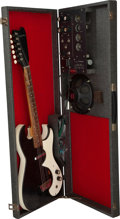 Musical Instruments:Electric Guitars, 1965 Silvertone 1457 Amp-in-Case Black Solid Body Electric Guitar, Serial #18511090.. ...