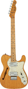 Musical Instruments:Electric Guitars, 1972 Fender Telecaster Thinline Natural Semi-Hollow Body Electric Guitar, Serial #371563.. ...