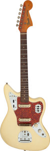 Musical Instruments:Electric Guitars, 1962 Fender Jaguar White Solid Body Electric Guitar NVSN.. ...