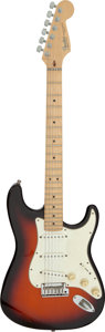 Musical Instruments:Electric Guitars, 1993 Fender Stratocaster Sunburst Solid Body Electric Guitar, Serial #N3115238.. ...