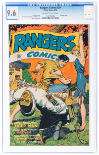 Rangers Comics #29 (Fiction House, 1946) CGC NM+ 9.6 Off-white to white pages