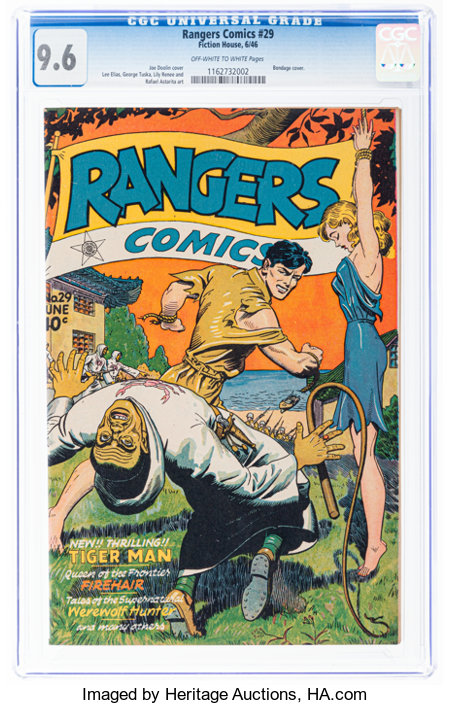 Rangers Comics #29 (Fiction House, 1946) CGC NM+ 9.6 Off-white to white pages....