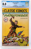 Golden Age (1938-1955):Classics Illustrated, Classic Comics #22 The Pathfinder - First Edition Island Publishing Variant (Gilberton, 1944) CGC VF 8.0 Off-white to white pa...