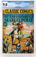 Golden Age (1938-1955):Classics Illustrated, Classic Comics #27 The Adventures of Marco Polo - First Edition (Gilberton, 1946) CGC VF/NM 9.0 Off-white pages....
