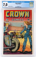 Golden Age (1938-1955):Adventure, Crown Comics #7 (McCombs Publishing, 1946) CGC FN/VF 7.0 White pages....