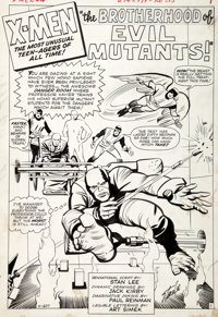 Jack Kirby and Paul Reinman X-Men #4 Splash Page Original Art (Marvel, 1964)