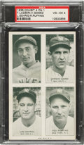 Baseball Cards:Singles (1930-1939), 1936 Exhibit 4 On 1 Gehrig/Gomez/Lazzeri/Ruffing PSA VG-EX 4....