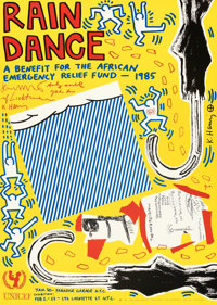 """Rain Dance (UNICEF, 1985). Rolled, Very Fine+. Autographed Charity Benefit Print (22"""" X 31""""). Andy Warhol, Roy..."""