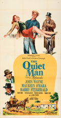 "Movie Posters:Drama, The Quiet Man (Republic, 1952). Folded, Very Fine. Three Sheet (41"" X 79"").. ..."