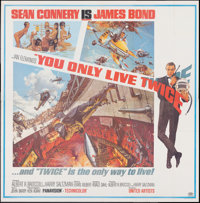 """You Only Live Twice (United Artists, 1967). Folded, Very Fine. Six Sheet (79"""" X 80""""). Frank McCarthy and Rober..."""