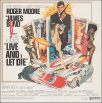 """Live and Let Die (United Artists, 1973). Folded, Very Fine+. International Six Sheet (77"""" X 78""""). Robert McGin..."""
