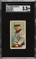 Baseball Cards:Singles (Pre-1930), 1909-11 T206 Piedmont 350-460/42 Cy Young (Glove Shows) SGC VG+ 3.5. ...