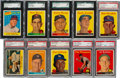 Baseball Cards:Sets, 1958 Topps Baseball Complete Set (494) With 16 Yellow Letters. ...