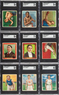 Boxing Cards:General, 1910 T218 Mecca Champions Complete Set (153). ...