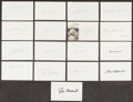 Autographs:Index Cards, Baseball Legends Signed Index Cards, Lot of 26. ...