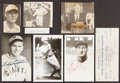 Autographs:Index Cards, Baseball Legends Signed Items, Lot of 7. ...