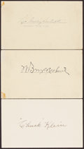 Autographs:Index Cards, Baseball Hall of Famers Signed Index Cards, Lot of 3....