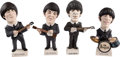 Music Memorabilia:Memorabilia, The Beatles Set Of Four Statuettes Ltd. Edition Signed by Artist From World of Groggs, Wales (4). ... (Total: 4 Items)