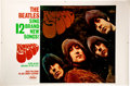 Music Memorabilia:Memorabilia, The Beatles Rubber Soul Capitol Promo Display Paper Posters (2) Without the Boards (1965)....