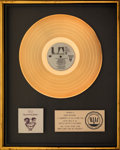 Music Memorabilia:Awards, War Why Can't We Be Friends? RIAA Gold Record Sales Award (United Artists, 1975)....
