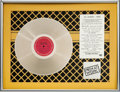 Music Memorabilia:Awards, Men at Work Business as Usual In-House Platinum LP Award Presented To Kal Rudman, Founder/Publisher of FMQB...