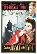 Movie Posters:Horror, Dr. Jekyll and Mr. Hyde (MGM, R-1958). Very Fine/Near Mint on Board. Signed Original Mixed Media Preliminary Artwork on Pape...