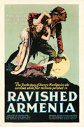"Movie Posters:Drama, Ravished Armenia (First National, 1919). Very Fine+ on Linen. One Sheet (27"" X 41"") AKA: Auction of Souls.. ..."