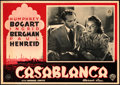 "Movie Posters:Academy Award Winners, Casablanca (Warner Bros., 1947). Folded, Fine/Very Fine. First Post-War Release Italian Photobusta (19"" X 13.5"").. ..."