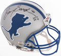 Football Collectibles:Helmets, Barry Sanders Signed Detroit Lions Full Sized Helmet. ...