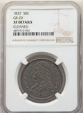 Reeded Edge Half Dollars, 1837 50C GR-20, R.3, -- Cleaned -- NGC Details. XF. Mintage 3,629,820. ...