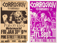 Corrosion of Conformity Concert Posters (2) Signed by Designers (1980s)