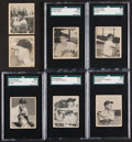 Baseball Cards:Lots, 1948 Bowman Baseball Collection (7) With Stars & HoFers....