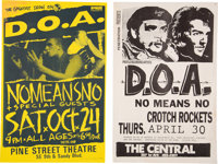 DOA Concert Posters (2) (1980s)