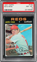 Baseball Cards:Singles (1970-Now), 1971 Topps Pete Rose #100 PSA NM-MT 8....