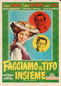 "Movie Posters:Musical, Take Me Out to the Ball Game (MGM, 1950). Folded, Very Fine-. Italian 4 - Fogli (55"" X 77"") Silvano ""Nano"" Campeggi A..."