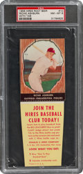 Baseball Cards:Singles (1950-1959), 1958 Hires Root Beer Richie Ashburn (With Tab) #10 PSA NM-MT 8 - Pop Four, One Higher. ...