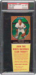 Baseball Cards:Singles (1950-1959), 1958 Hires Root Beer Larry Doby (With Tab) #17 PSA NM-MT 8 - Pop Five, Two Higher. ...