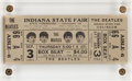 Music Memorabilia:Memorabilia, The Beatles Indiana State Fair Unused Concert Ticket September 3rd (1964). ...