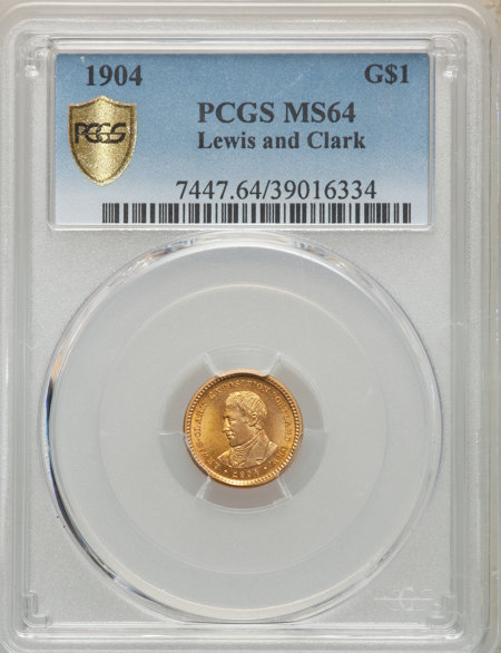 1904 G$1 Lewis and Clark, MS PCGS Secure 64 PCGS