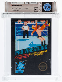 Pro Wrestling - Wata 9.4 A+ Sealed [Rev-A, Round-SOQ, Later Production], NES Nintendo 1987 USA