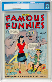 Famous Funnies #117 (Eastern Color, 1944) CGC VF/NM 9.0 Cream to off-white pages