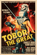 "Movie Posters:Science Fiction, Tobor the Great (Republic, 1954). Fine+ on Linen. One Sheet (27"" X 41"").. ..."