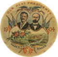 "Political:Pinback Buttons (1896-present), Roosevelt & Fairbanks: Wonderful ""Roos-e-Field"" Jugate...."