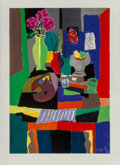 Works on Paper, Marcel Mouly (French, 1918-2008). Nature Morte et Palette, 2001. Acrylic on paper. 31-1/2 x 23 inches (80 x 58.4 cm). Si...