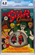 Golden Age (1938-1955):Superhero, All Star Comics #8 (DC, 1942) CGC VG 4.0 Cream to off-white pages....
