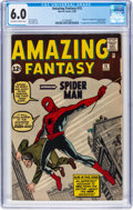 Silver Age (1956-1969):Superhero, Amazing Fantasy #15 (Marvel, 1962) CGC FN 6.0 Off-white to white pages....
