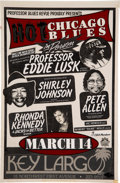 Music Memorabilia:Posters, Hot Chicago Blues w/Professor Eddie Lusk Etc. Concert Poster Master (late 80s/early 90s). ...